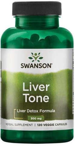 SWANSON Liver tone - liver detox formula x 120 tabletek wegetariańskich