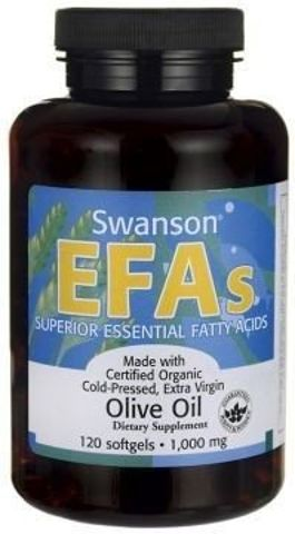 SWANSON Olive oil extra virgin 1000mg x 120 kapsułek