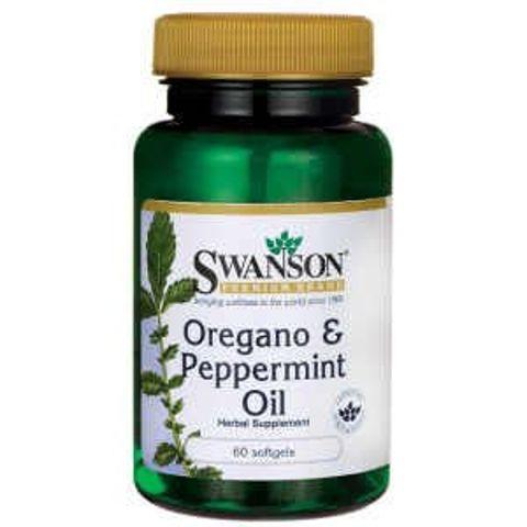 SWANSON Oregano & Peppermint oil (olej z oregano i mięty pieprzowej) x 60 kapsułek