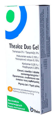 THEALOZ DUO GEL UD 0,4ml x 30 minimsów