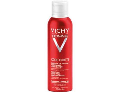 VICHY HOMME CODE PURETE Oczyszczająca pianka do golenia przeciw niedoskonałościom 200ml