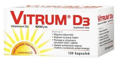 VITRUM D3 x 120 kapsułek