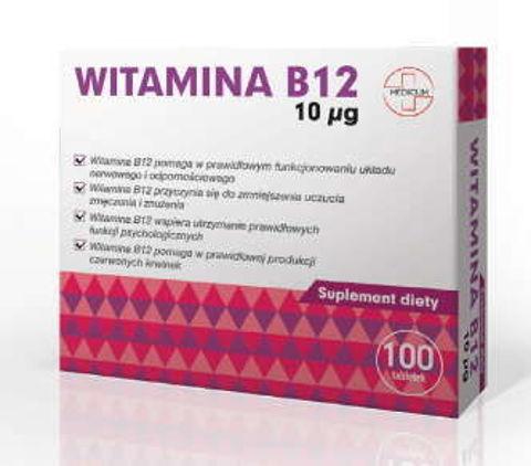 Witamina B12 10µg x 100 tabletek