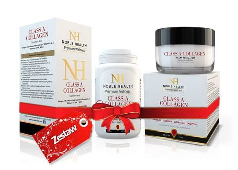 ZESTAW CLASS A COLLAGEN Noble Health x 90 tabletek + Beauty Line Class A Collagen krem na dzień 50ml