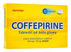 Coffepirine Tabletki od bólu głowy 450mg + 50mg x 12 sztuk