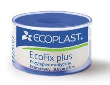 Ecoplast Przylepiec opatrunkowy tkaninowy EcoFix plus na szpuli 2,5cm x 5m