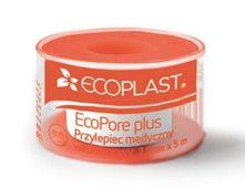 Ecoplast Przylepiec opatrunkowy włókninowy EcoPore Plus na szpuli 1,25cm x 5m