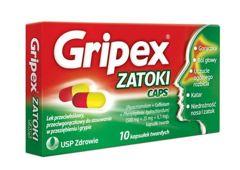 Gripex Zatoki Caps x 10 kapsułek