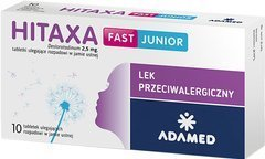 Hitaxa Fast Junior 2,5mg x 10 tabletek ulegających rozpadowi w jamie ustnej