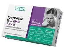 Ibuprofen Teva Max 400mg x 10 tabletek