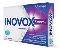 Inovox Express smak miętowy x 12 pastylek do ssania