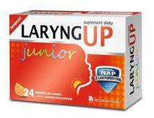 LARYNG UP JUNIOR x 24 tabletki do ssania