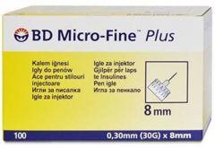 Micro-Fine Igły do penów insulinowych 30G 0,30 x 8mm x 100 sztuk