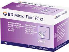Micro-Fine Plus Igły do penów insulinowych 31G 0,25 x 5mm x 100 sztuk