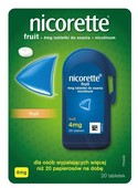 Nicorette Fruit 4mg x 20 tabletek do ssania