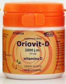 ORIOVIT-D 2000 j.m. 50µg x 30 tabletek do żucia