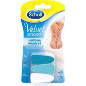 SCHOLL Velvet Smooth 3 wymienne nasadki do elektronicznego systemu do pielęgnacji paznokci x 1 zestaw