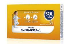 SOLBABY Aspirator do nosa 3w1 zestaw aspirator + woda morska + 2 wymienne końcówki