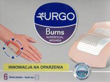 URGO Plastry na oparzenia i rany powierzchniowe małe x 6 sztuk - data ważności 31-08-2019