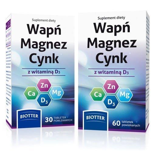 Wap magnez cynk z witamin d3 x 60 tabletek 30 tabletek for Magnez w tabletkach