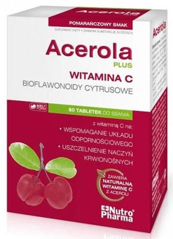ACEROLA Plus x 60 tabletek do ssania