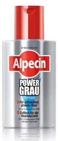 ALPECIN Power Grau szampon przeznaczony do włosów siwych i białych 200ml