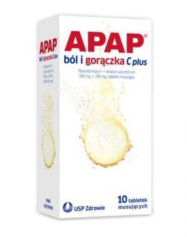 APAP Ból i gorączka C plus  x 10 tabletek musujących