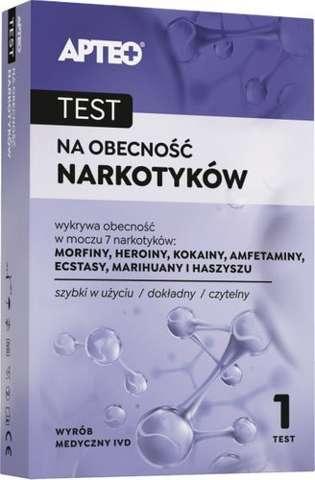 APTEO Care test na obecność narkotyków x 1 sztuka - data ważności 30-09-2019