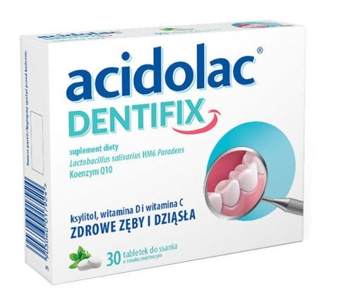 Acidolac Dentifix x 30 tabletek do ssania