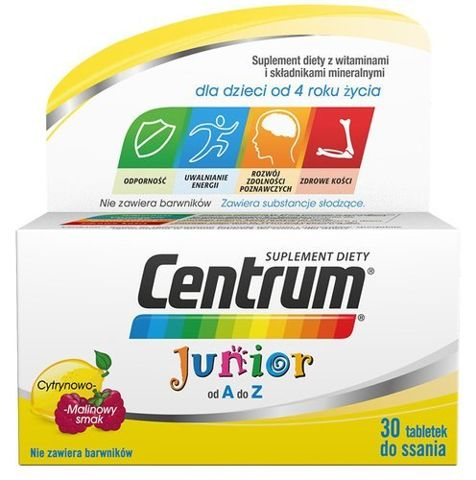 CENTRUM Junior x 30 tabletek do ssania