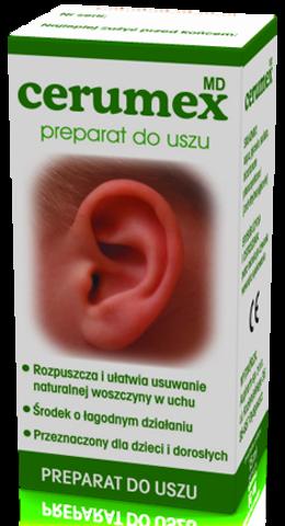 CERUMEX MD preparat do higieny uszu 15ml - data ważności 30-11-2019