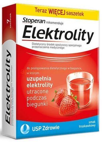 ELEKTROLITY x 7 saszetek smak truskawkowy