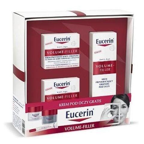 EUCERIN Zestaw Volume-Filler - Krem przywracający objętość na dzień do skóry suchej 50ml + Krem na noc 50ml + Krem pod oczy 15ml
