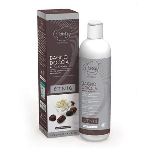Etnic Organiczny odżywczy płyn z masłem shea i olejkiem jojoba do kąpieli i pod prysznic 250ml