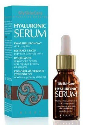 GLYSKINCARE Hyaluronic serum 30ml + Kolagenowa maska do twarzy ze złotem Gratis!