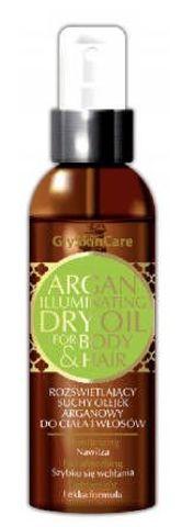 GLYSKINCARE Rozświetlający suchy olejek arganowy do włosów i ciała 125ml
