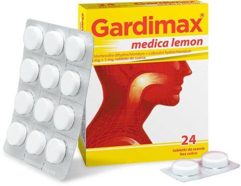 Gardimax Medica lemon x 24 tabletki do ssania