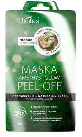 L'Biotica Amethyst Glow maska peel-off oczyszczenie i naturalny blask 10g