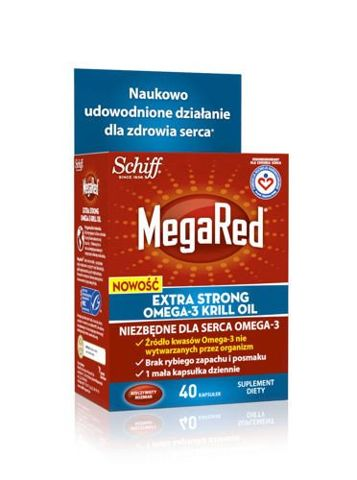 MEGARED Extra Strong Omega-3 Krill Oil 500mg x 40 kapsułek