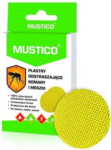 MUSTICO Plastry odstraszające komary i meszki x 12 sztuk