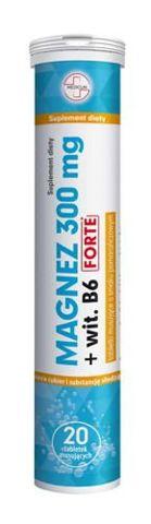 Magnez 300+ wit. B6 Forte x 20 tabletek musujących
