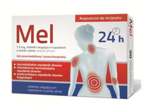 Mel 7,5mg x 10 tabletek ulegających rozpadowi w jamie ustnej