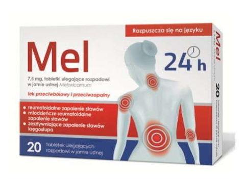 Mel 7,5mg x 20 tabletek ulegających rozpadowi w jamie ustnej
