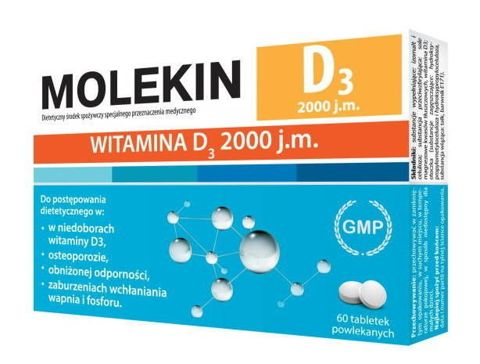 Molekin D3 2000 j.m x 60 tabletek