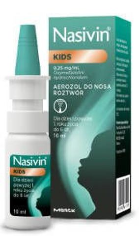 NASIVIN Kids 0,25mg/ml aerozol do nosa 10ml