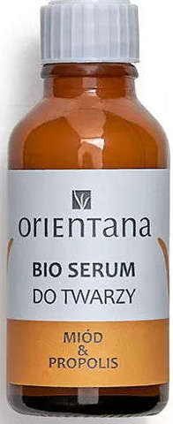 ORIENTANA Bio Serum do twarzy Miód i Propolis 30ml