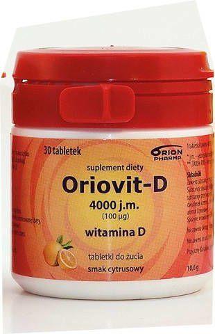 ORIOVIT-D 4000 j.m. 100µg x 30 tabletek do żucia