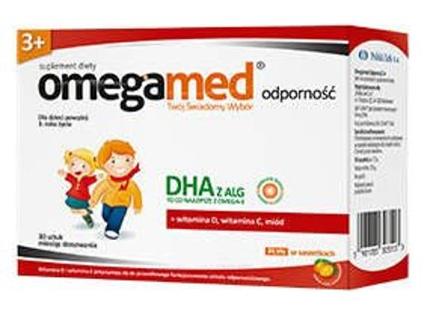 Omegamed Odporność 3+ płyn w saszetkach x 30 sztuk