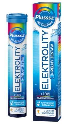 Plusssz Elektrolity + multiwitamina x 24 tabletki musujące