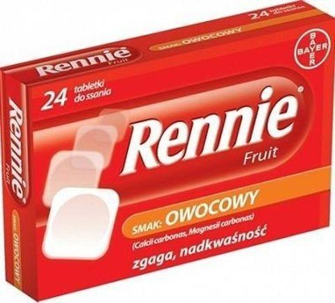 RENNIE Fruit x 24 tabl. owocowe